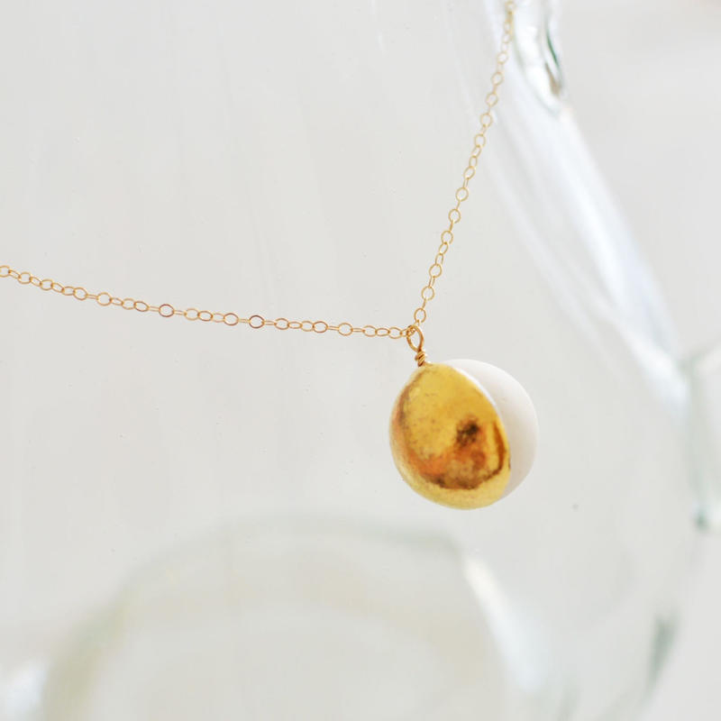sphere gold neckless  [length line(縦ライン)]