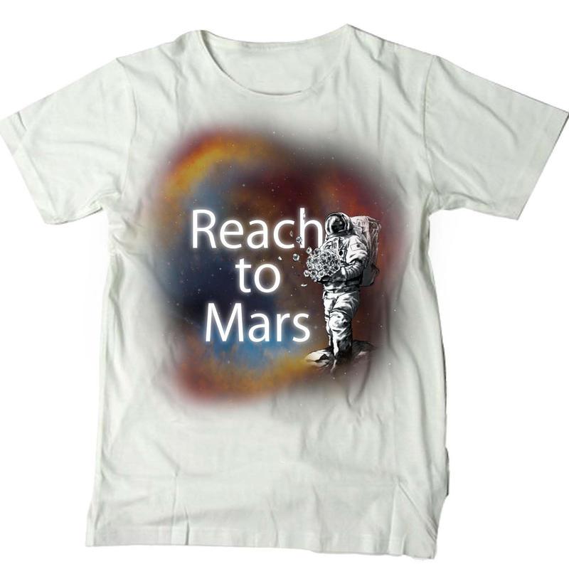 Reach to Mars Tシャツ 白
