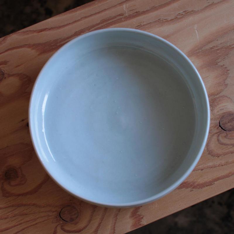 中田光:白磁 7寸ドラ鉢