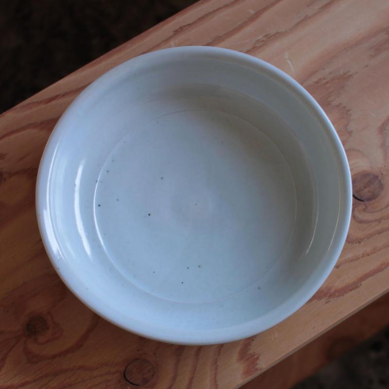 中田光:白磁 8寸鉢