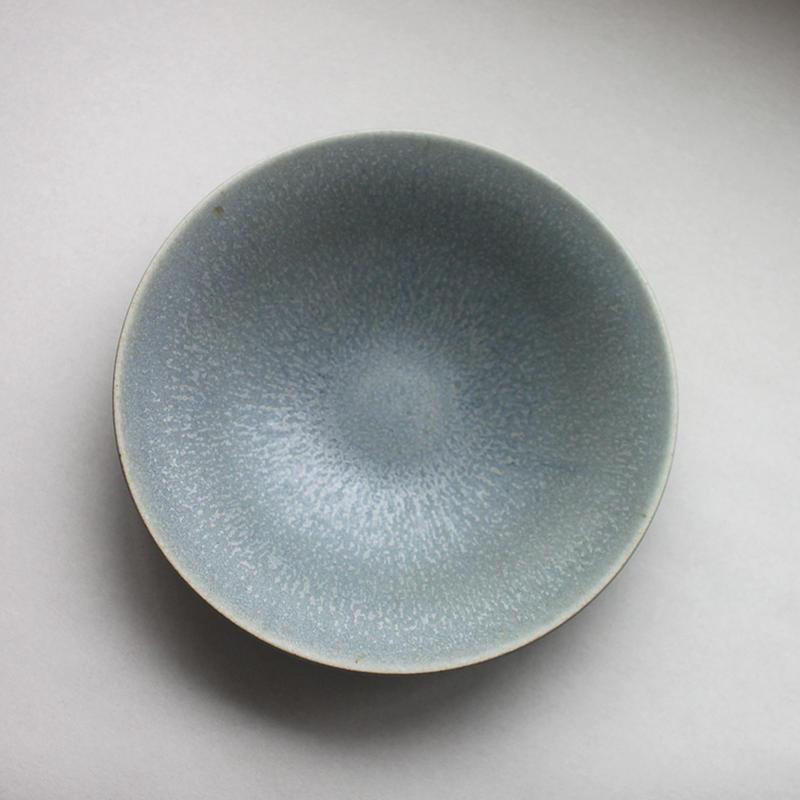 関太一郎 浅鉢20cm 青