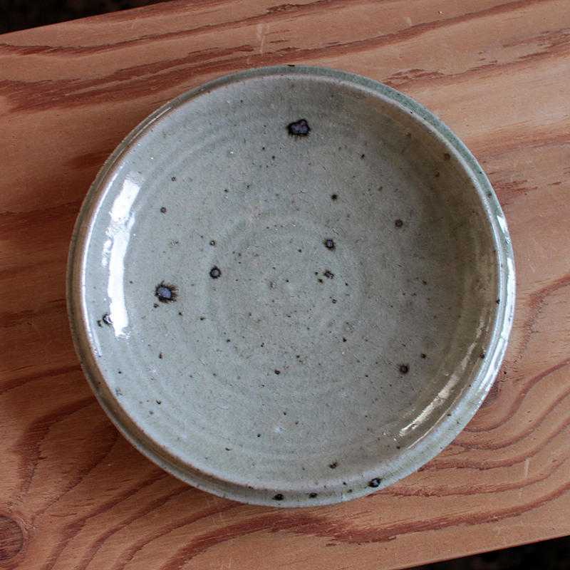 中田光:粉引 7寸鉢