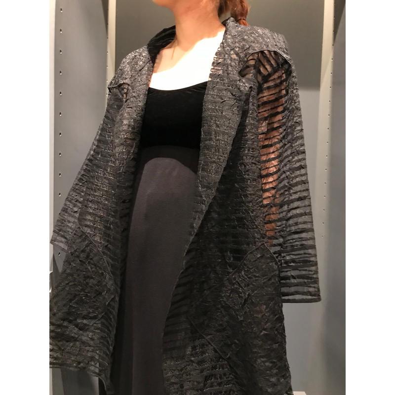 80s oversized sheer jacket ブラック USA製