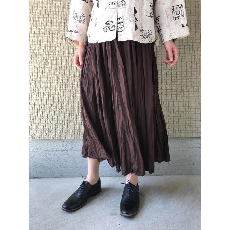 【レディース】ポリフレアマキシスカート