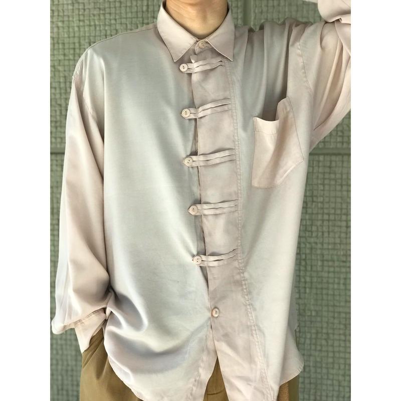 90年代 レーヨンブレンドデザインシャツ