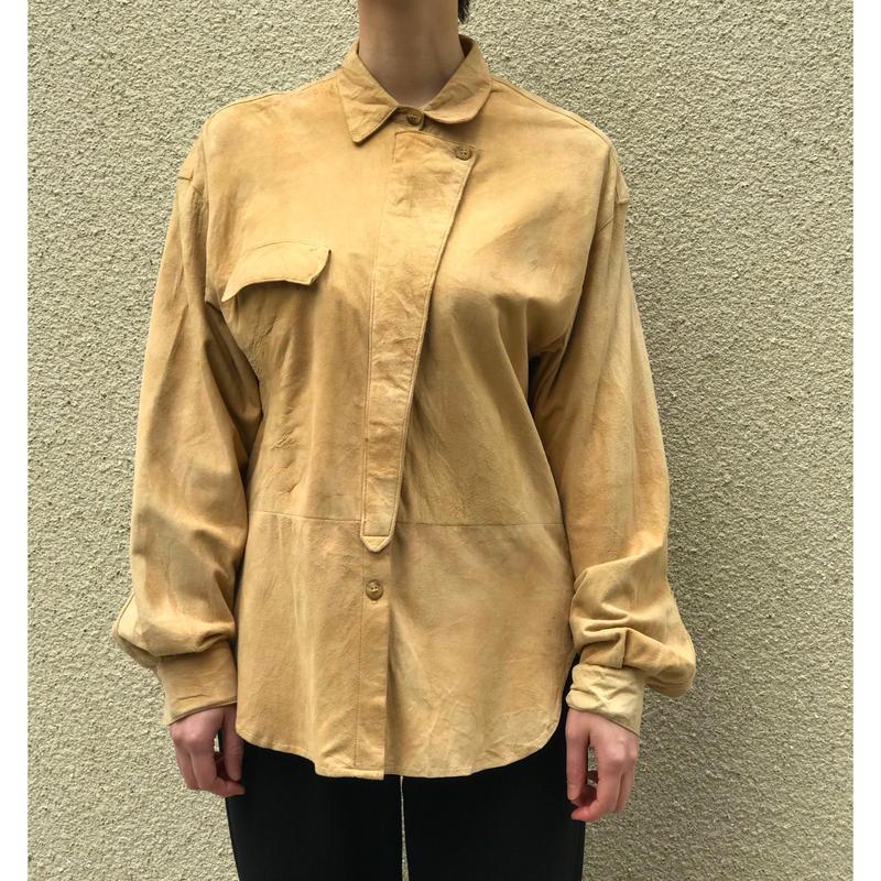 80年代 スウェードデザインシャツ