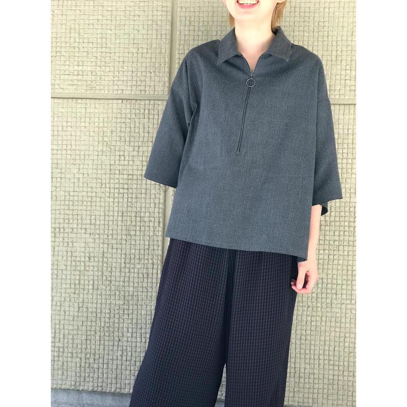 【bukht】2019 S/S ハーフジッププルオーバーシャツ
