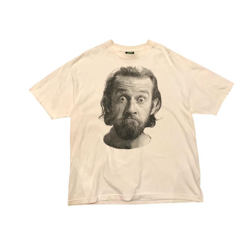 """George Carlin"" print t-shirt ホワイト 表記XL"