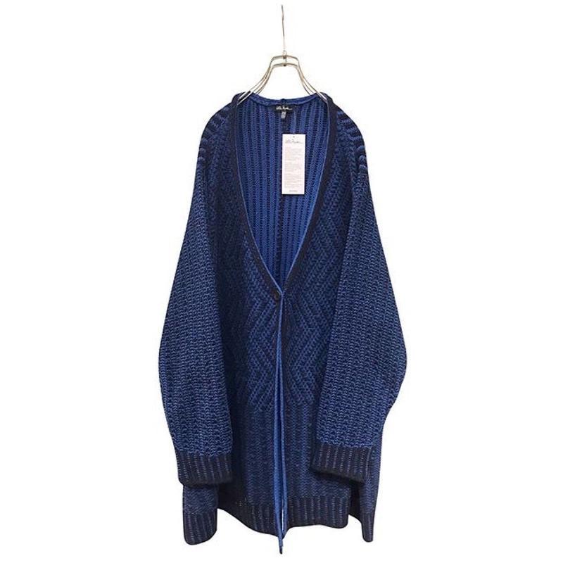 """unknown"" cotton knit cardigan ロイヤルブルー トルコ製"