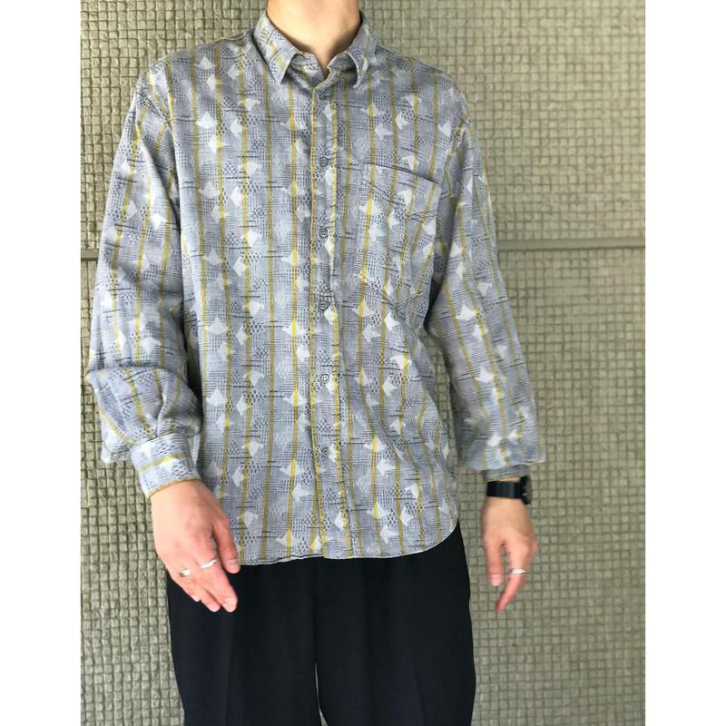 80年代 コットンデザインシャツ