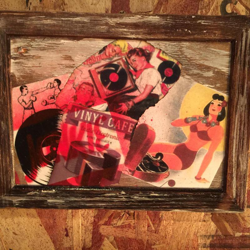 "Mini Collage Frame ""JUNKIE"" #2"