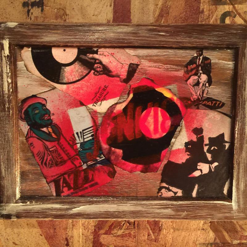 "Mini Collage Frame ""JUNKIE"" #1"