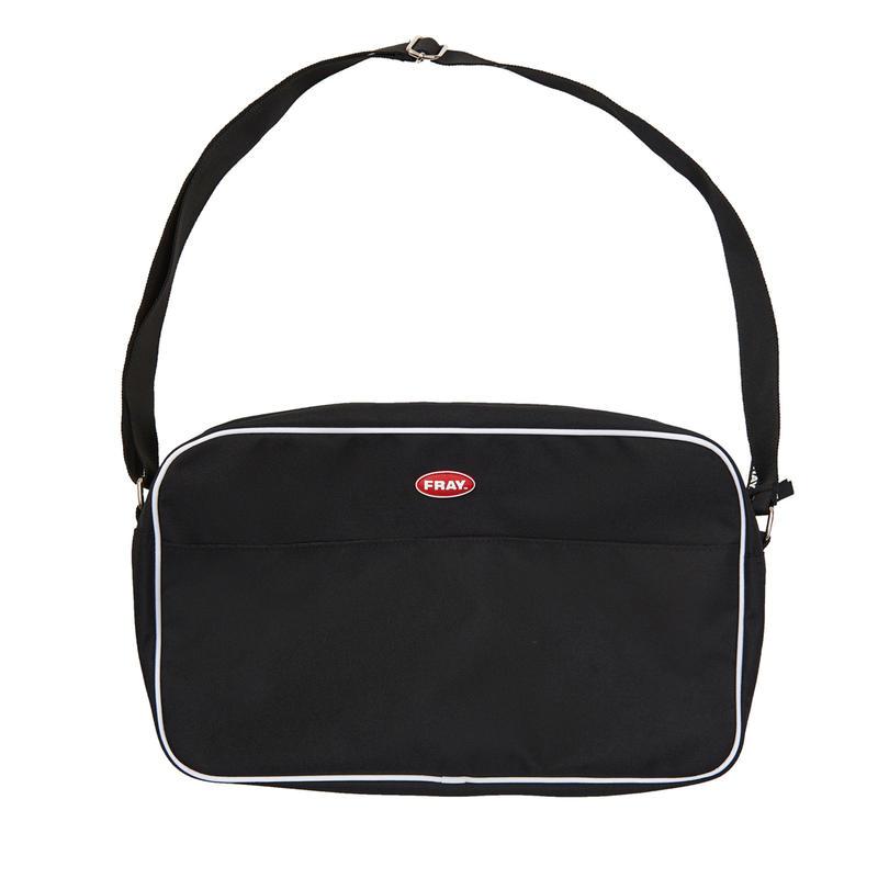 FRAY PIPNG SHOLDER BAG BLACK
