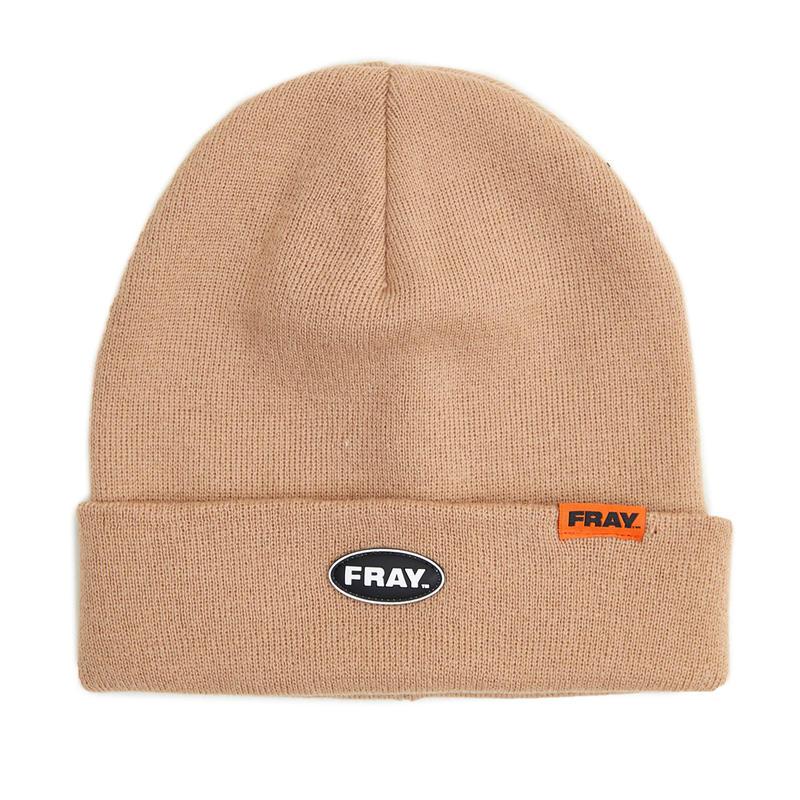 【Fray】FRAY BEANIE  WHITE BEIGE
