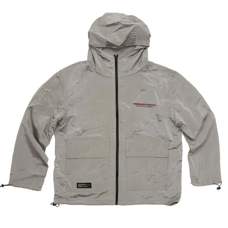WIND BREAKER JACKET GRAY