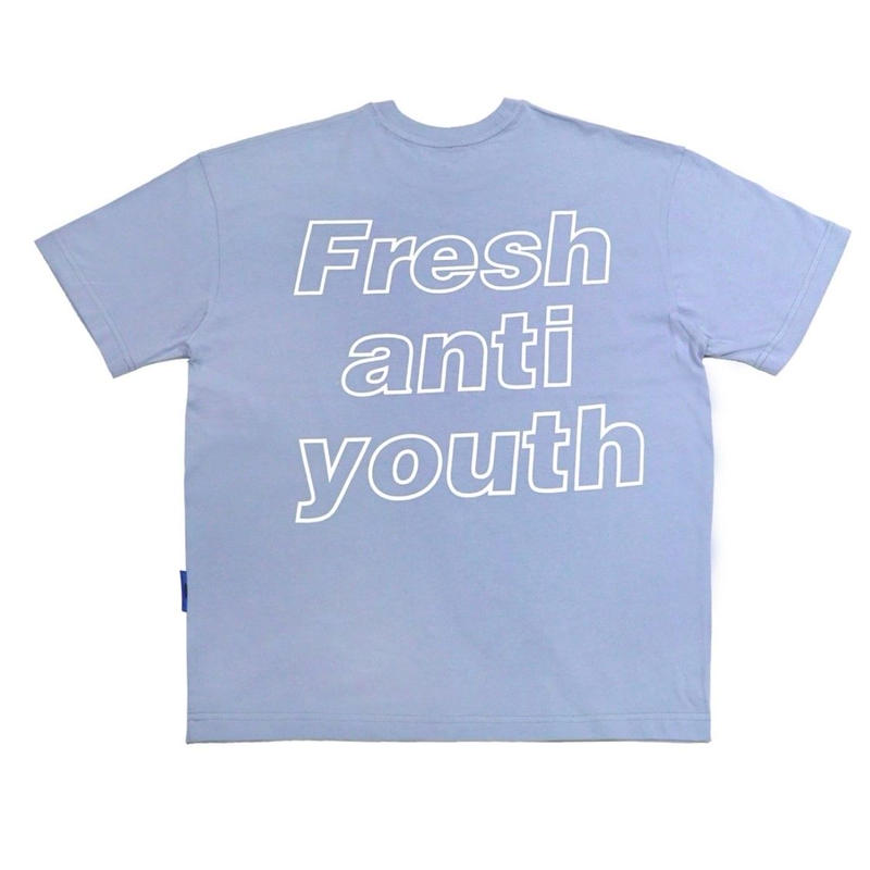 【Fray】I am Fresh T-SHIRTS DUST BLUE
