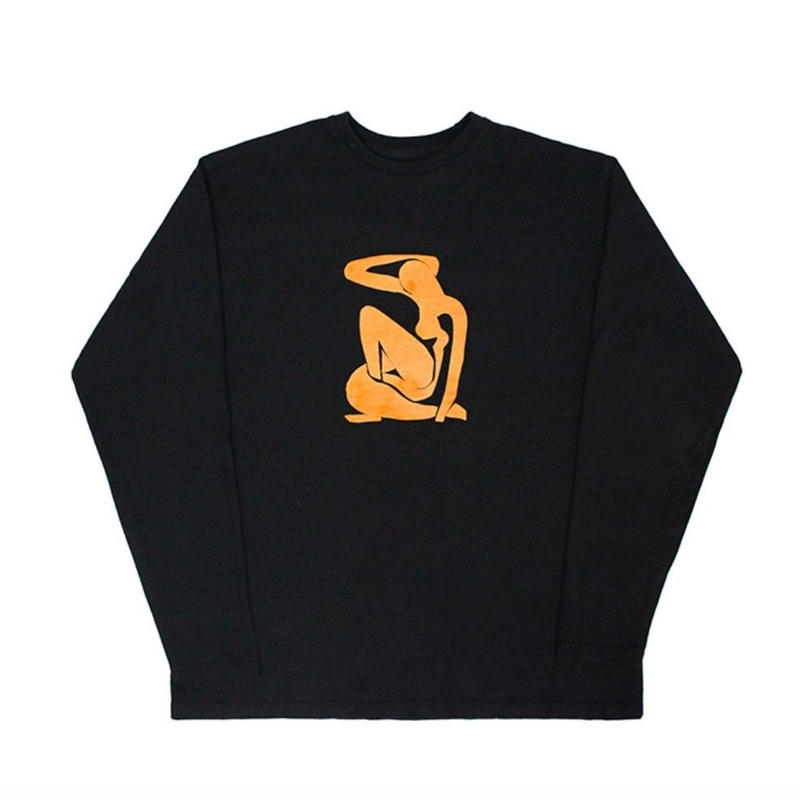 【easy busy】Henri Matisse Longsleeve T-Shirts 2 – Black