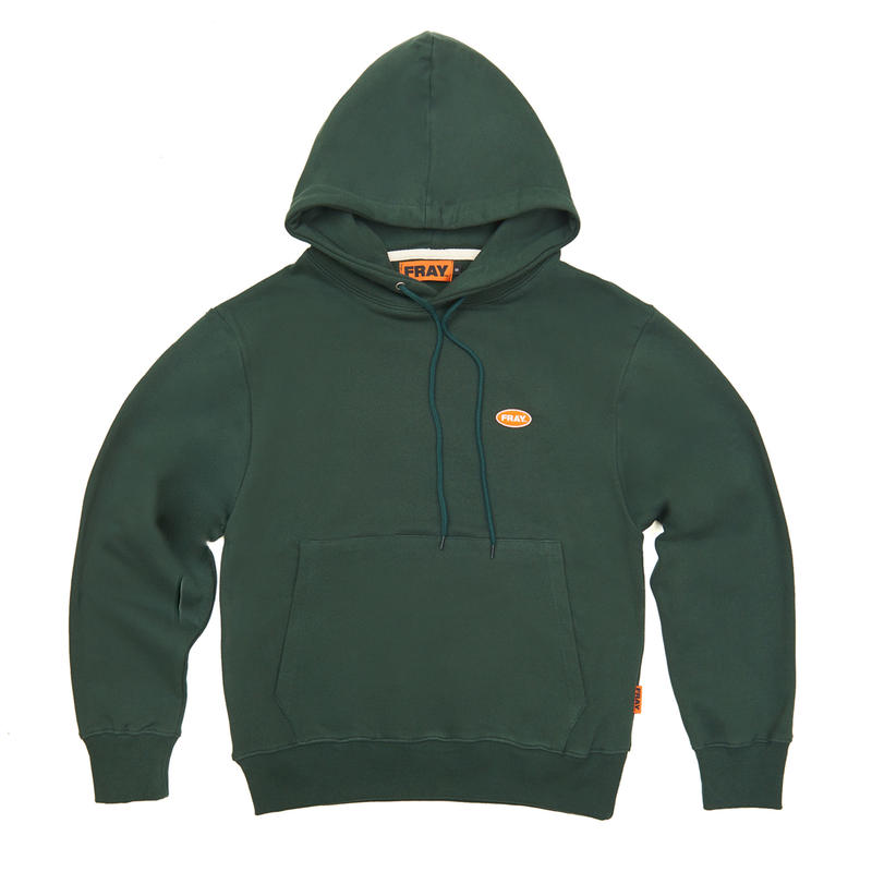 【Fray】LOGO PULLOVER HOODIE GREEN