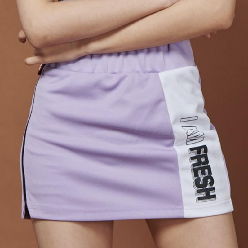 【Fray】FRAY LINE SKIRT LIGHT PURPLE