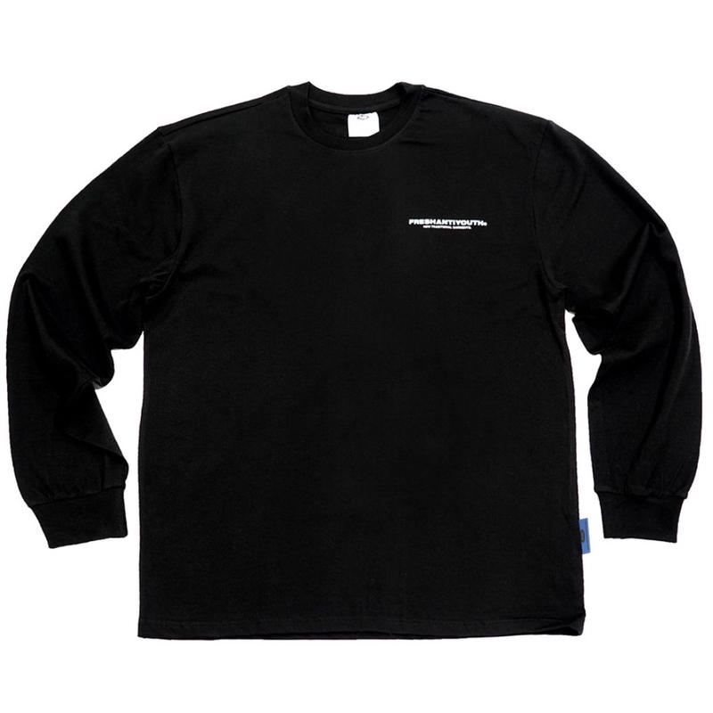 【Fray】FRESH LONG-SLEEVE T SHIRTS BLACK