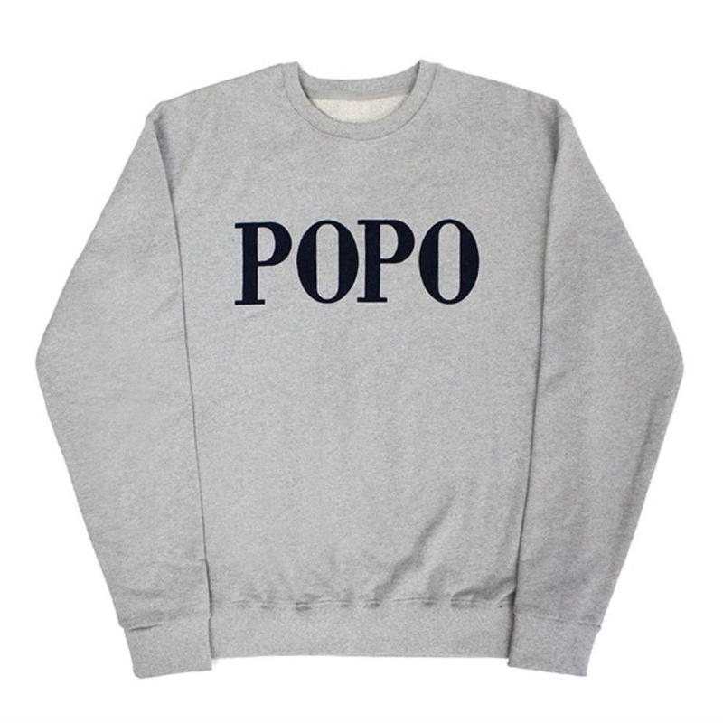 【easy busy】POPO' Sweatshirts – Grey