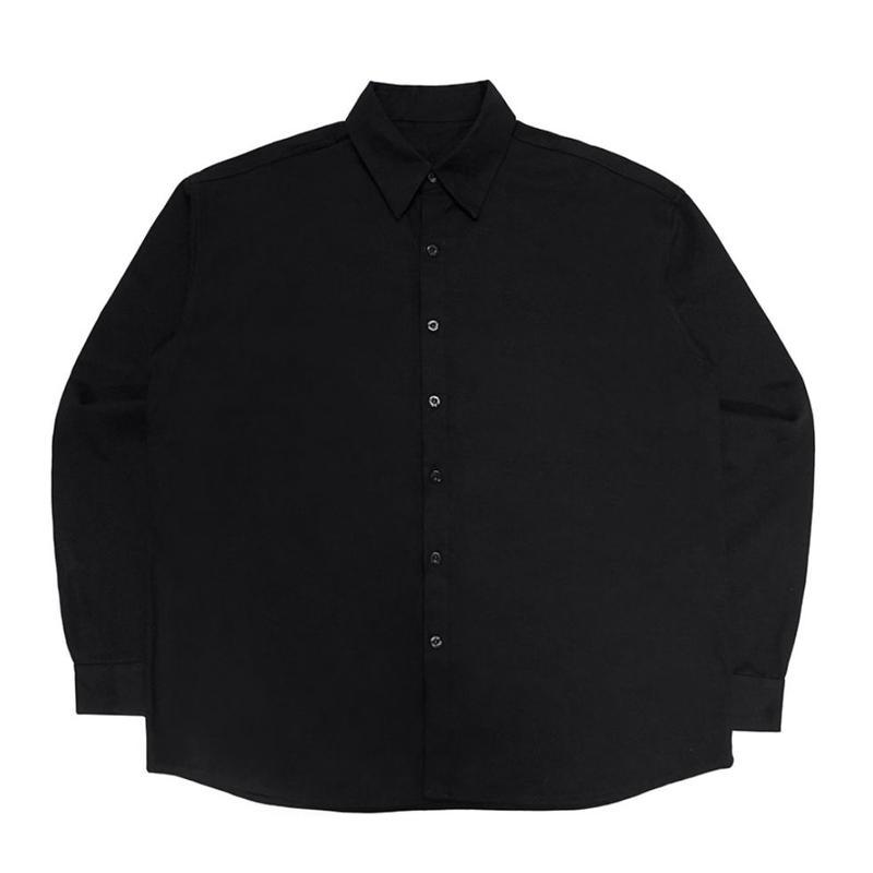 【IMXHB】PLASTIC FACE OVERSIZED SHIRTS - BLACK