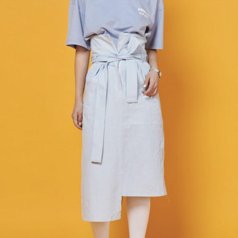 【Fray】FR UNBALANCE HIGH WAIST SKIRT ICE
