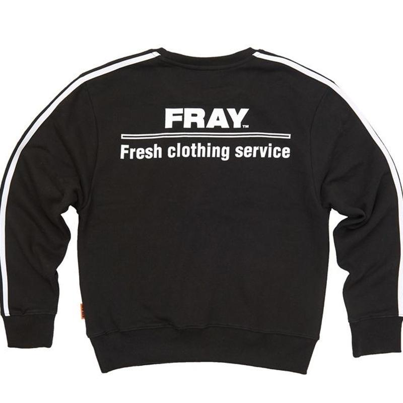 【Fray】FRESH CREWNECK SWEATER BLACK