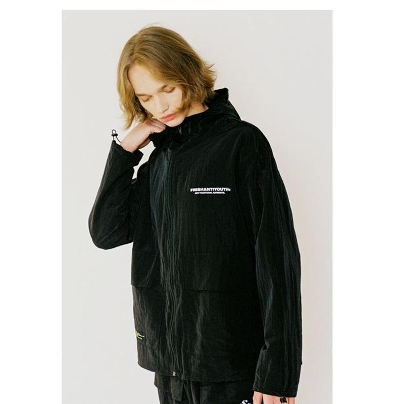 WIND BREAKER JACKET BLACK