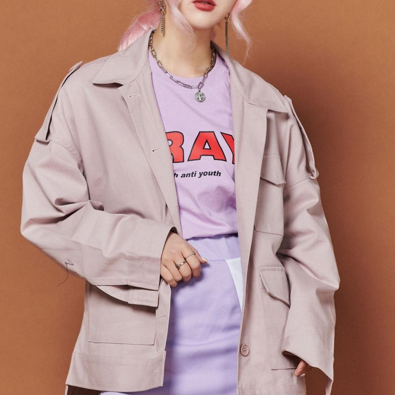 【Fray】FR FLAP POCKET JACKET Dust Pink