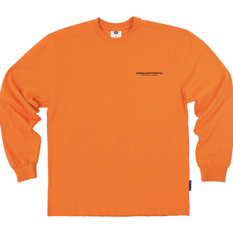 【Fray】FRESH LONG-SLEEVE T SHIRTS ORANGE