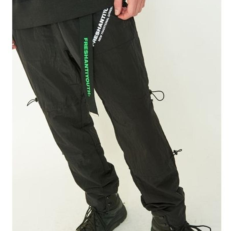 STRING WARM UP PANTS BLACK