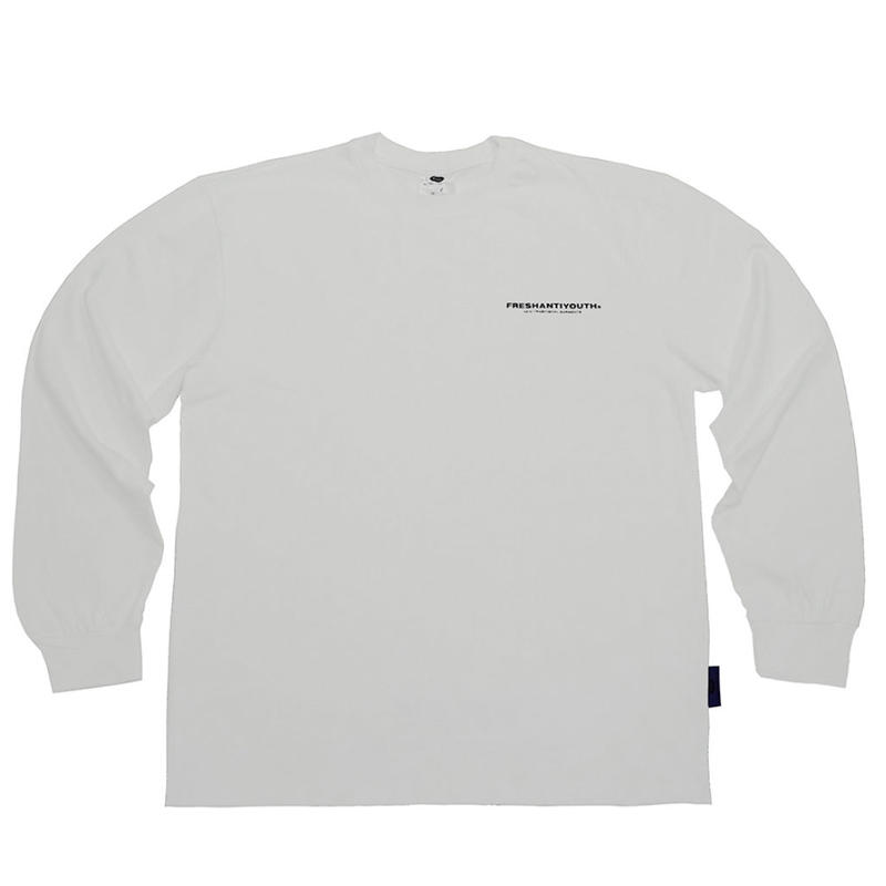 【Fray】FRESH LONG-SLEEVE T SHIRTS WHITE