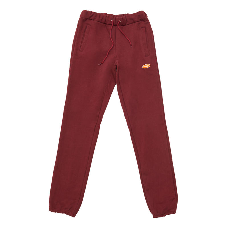 LOGO BASIC SWEAT PANTS BURGUNDY