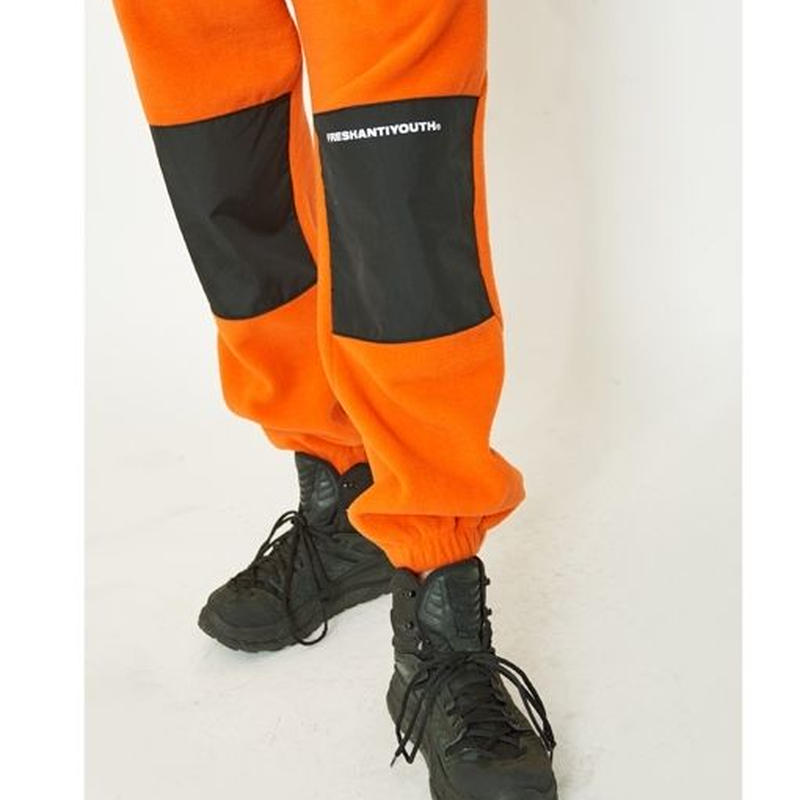 CUT FLEECE PANTS  ORANGE