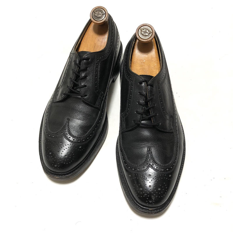 Florsheim Imperial Quality Kenmoor Black Vintage Shoes ウイングチップ