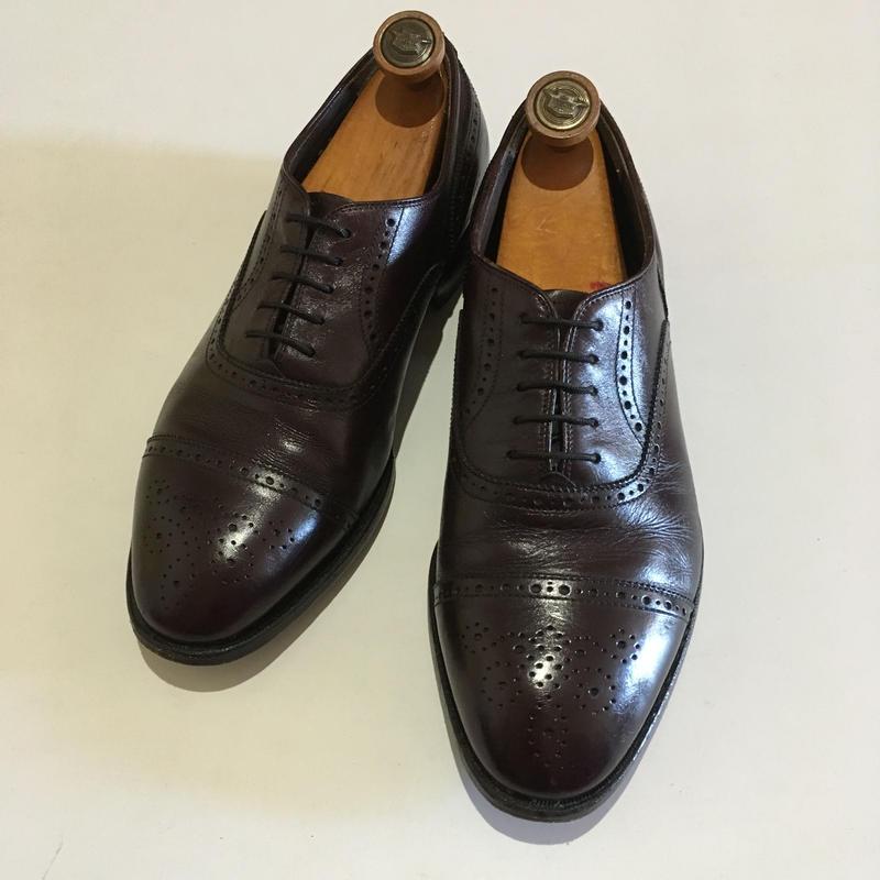 ライト セミブローグ ビンテージ シューズ E.T Wright Shoes