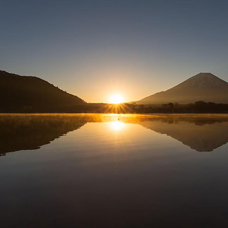 精進湖日の出02 富士山[富士河口湖町]