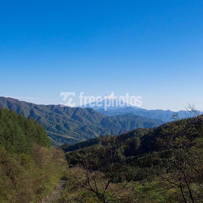柳沢峠から望む富士山