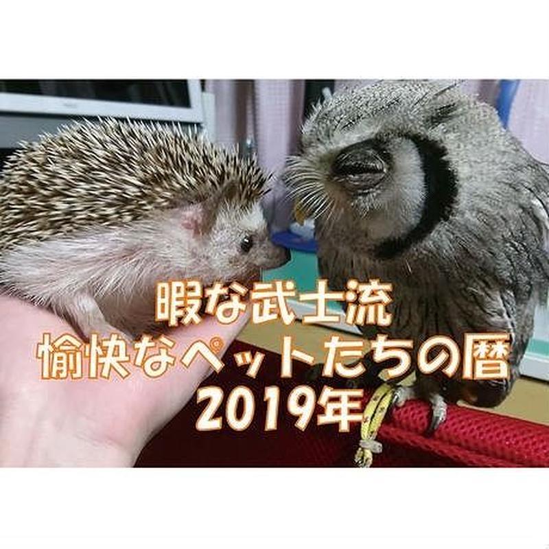 【送料無料】2019年 暇な武士流愉快なペットたちの暦 壁掛けカレンダー
