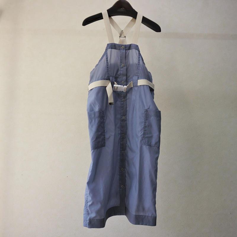sneeuw ナイロンジャンパースカート(BLUE)