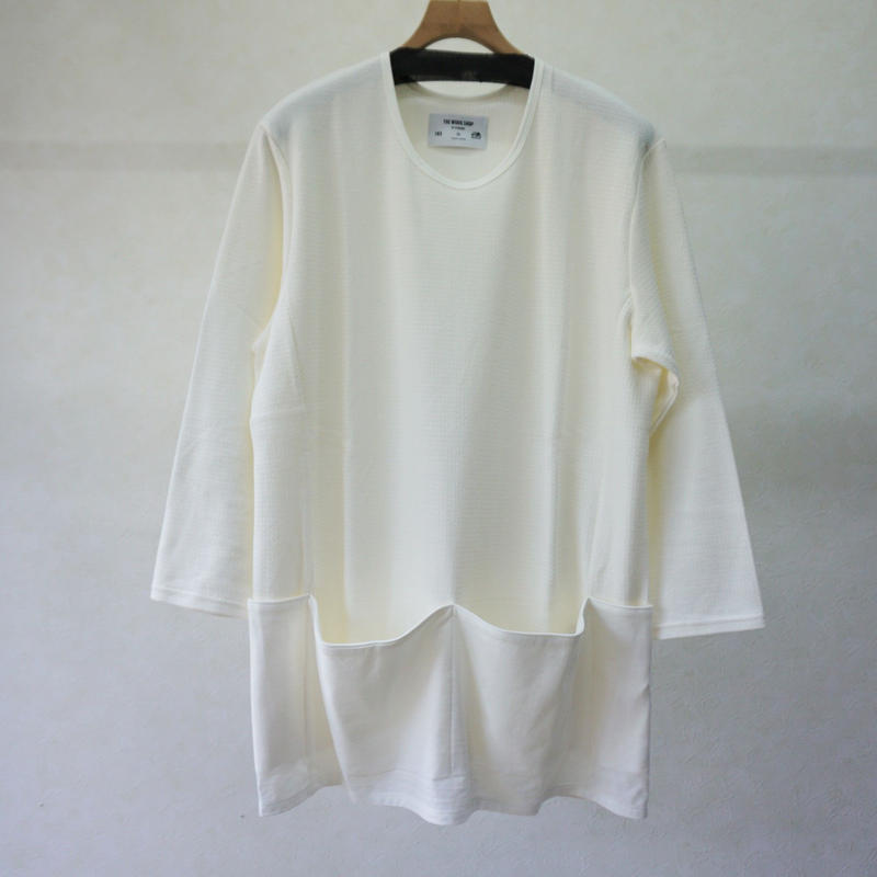 STORAMA APRON POCKET T-SHIRTS(WHITE)