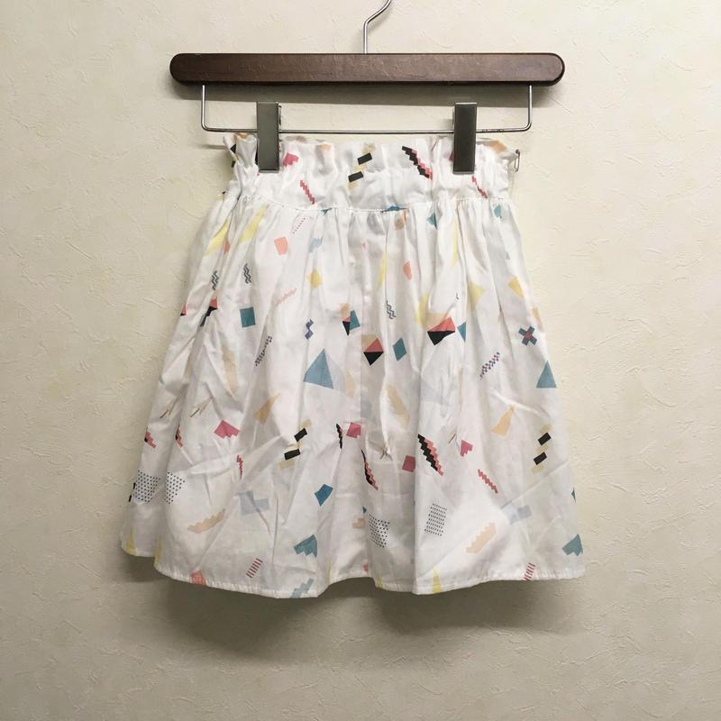 bedsidedrama × frankygrow エニーピースギャザースカート(WHITE)