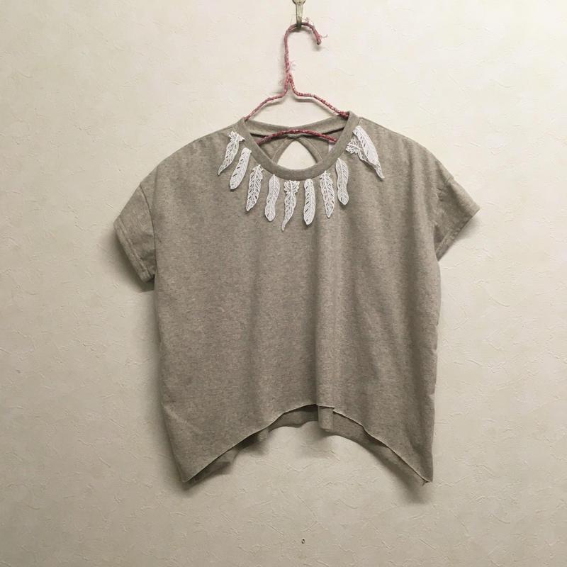 bedsidedrama ×frankygrow フェザーレースキッズTシャツ