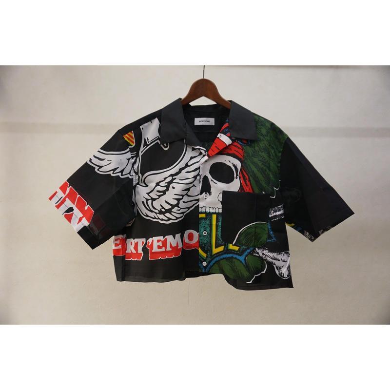 bodysong. BS19010 LEAVING タペストリーシャツ