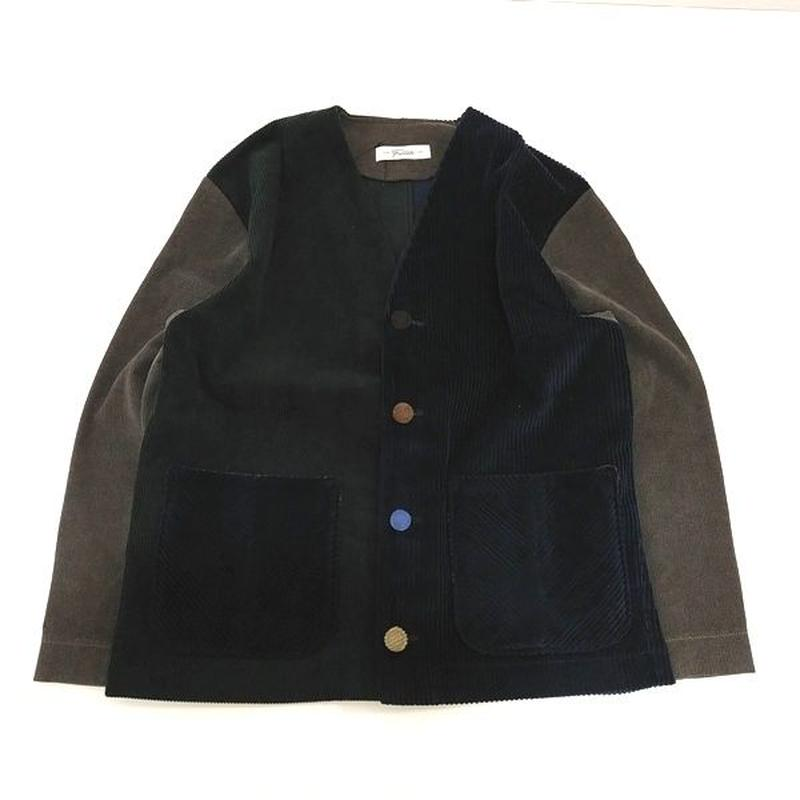 Corduroy Nocollar Jacket-Womans④