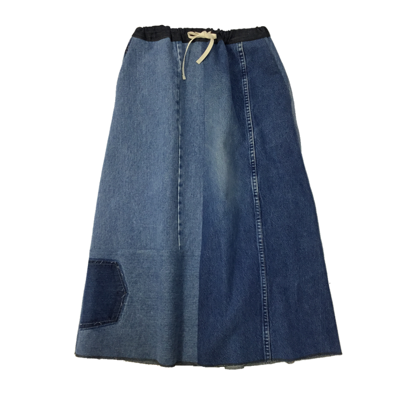 Denim Long Skirt①