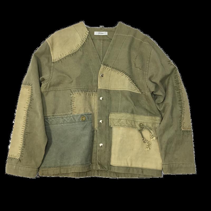 Vintage Tent NoCollar Jacket①/フリーサイズ