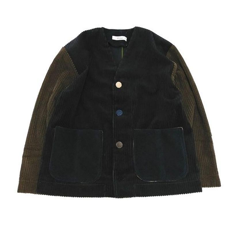 Corduroy Nocollar Jacket-Womans③