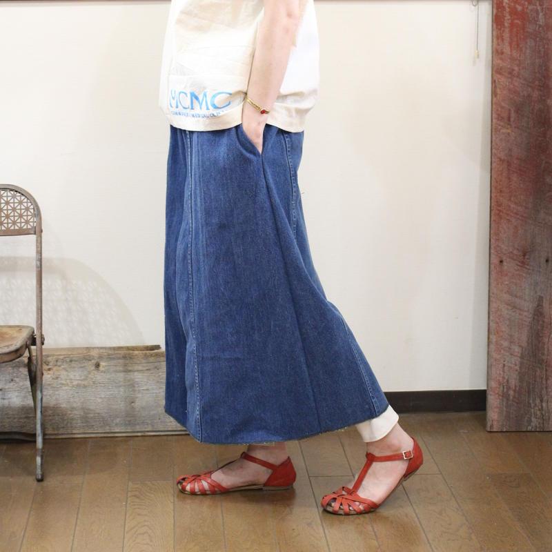 Denim Long Skirt④/フリーサイズ